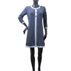 Dresses & Skirts - Blue-Gray Mod Style Mini Dress